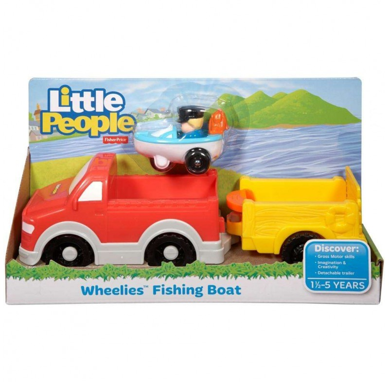 Fisher Price Little People Auto s rybářskou lodí
