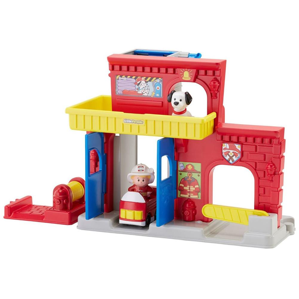 Fisher Price Little People Wheelies Hasičská stanice